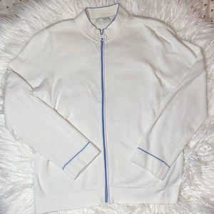 Liz Golf Liz Claiborne White Zip Up Jacket Large L